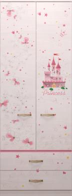 Шкаф для одежды с ящиками 20 «Принцесса»