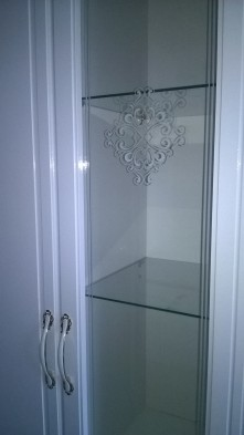 Модульная стенка для гостиной «Виктория» Белый глянец