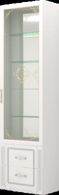 Шкаф для посуды 40 «Виктория» Белый глянец
