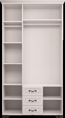 Шкаф для одежды с ящиком 3-х дв. с зеркалом 02 «Лукреция»
