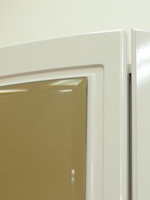 Шкаф для одежды 4-х дв с ящик (с зерк) (02) «Виктория» белый глянец
