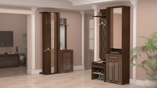 Модульная мебель для прихожей «Виктория» Тортона Глянец