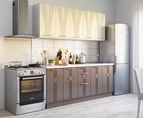 Модульный кухонный гарнитур «Лира» вариант 1