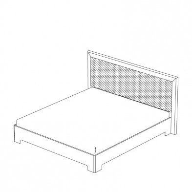 Кровать двуспальная 1 с ортопедическим основанием спальня «Тоскана»