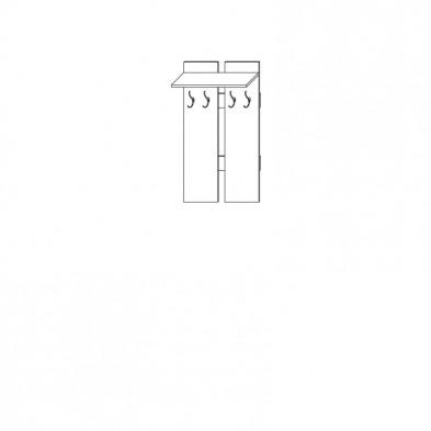 Прихожая «Цна-М» вешалка настенная(15)
