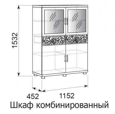 Шкаф комбинированный 25 «Ирис» Бодега светлый