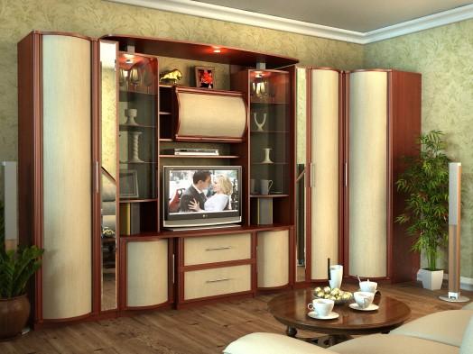 Модульная стенка в гостиную «Кристина»