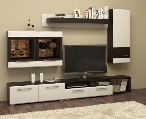 Модульная мебель для гостиной «Гермес» глянец