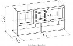 Модульная гостиная «Sherlock 4» Шкаф навесной