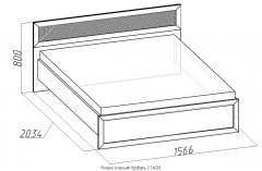«Милана» Кровать двуспальная с основанием