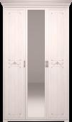 Шкаф для платья и белья 3-х дв с зеркалом 06 «Афродита» без карниза