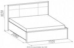 «Амели» двуспальная кровать Люкс, деревянное основание (высокая спинка)