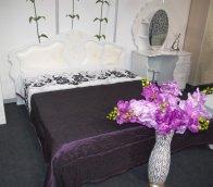 «Мелани 1» двуспальная кровать 1600 КМК 0434.6-01 (с мягким элементом)