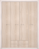 Шкаф для одежды 4-х дв без зеркала 11 «Мальта»