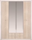 Шкаф для одежды 4-х дв с зеркалом «Мальта»