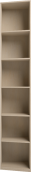 Шкаф для книг завершающий (левый) 24 «Скандинавия-Люкс»