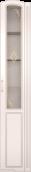 Шкаф-пенал со стеклом 17/32 «Виктория» Белый глянец