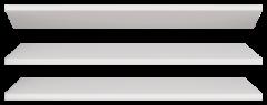 18 Полка 3 шт к мод.16 «Виктория» Белый глянец
