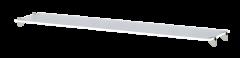 Полка стеклянная 38 «Виктория» Белый глянец