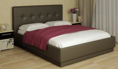 Мягкая двуспальная кровать с латами «Локарно»