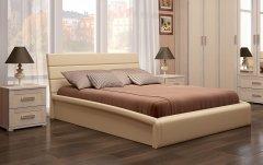 Мягкая двуспальная кровать с орт.основанием «Мальта»