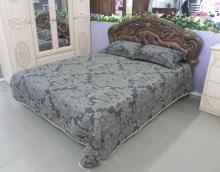 Двуспальная кровать КМК 0456.6-01 «Розалия» (без изножья, с мягким элементом)