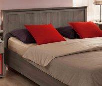 Кровать двуспальная + металл основание «Sherlock» ясень анкор темный