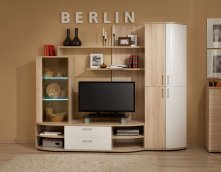 Гостиная «Berlin» Шкаф МЦН 1 Белый глянец