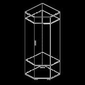 Прихожая «Веста Статус» Шкаф угловой