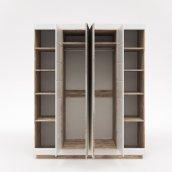 Шкаф для одежды 4Д КМК 0554.10 «Роксет»