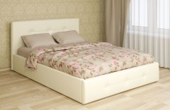 Мягкая двуспальная кровать с подъемным механизмом «Линда»