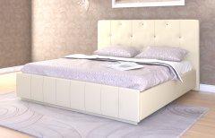 Мягкая двуспальная кровать с орт.основанием «Лина»
