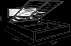 Кровать с подъемным механизмом и мягкой спинкой м.11 «Беатрис»