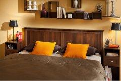 «Sherlock» Кровать односпальная + металл основание орех шоколадный