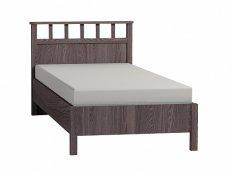 Кровать односпальная Люкс + металл основание «Sherlock» ясень анкор темный