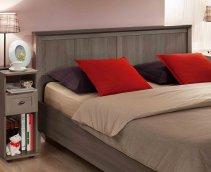 Кровать односпальная + металл основание «Sherlock» ясень анкор темный