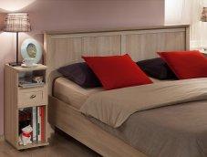 Кровать односпальная + металл основание «Sherlock» дуб сонома