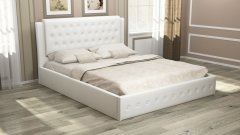 Мягкая двуспальная кровать с орт.основанием «София»