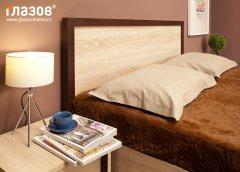 «BAUHAUS» Кровать двуспальная + металл основание