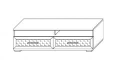Тумба для аппаратуры с нишей 1500 (16) гостиная «Парма Люкс» Венге